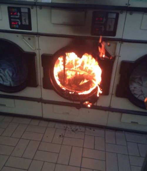 NOS: Fire in the laundry