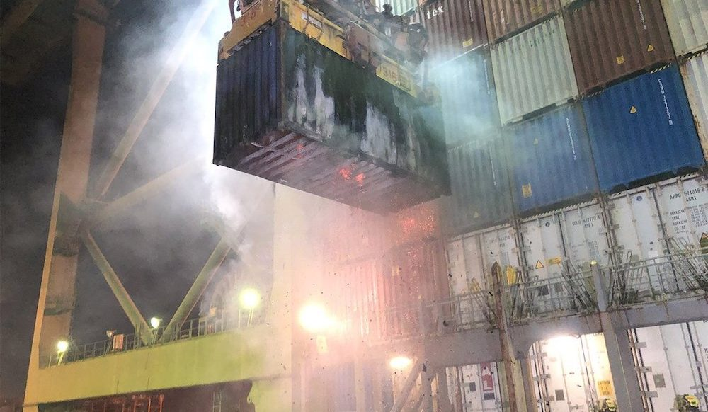 Container fires: All at sea